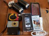2 JVC Video Cameras, Sony Bloggie Touch, Cameras and More