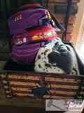 American Flag Box with Throw Blankets
