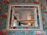 Wooden Mirror Frame Wall Display