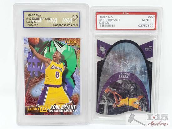 1996-97 Fleer Kobe Bryant Lucky 13 Card, 97 SPx Kobe Bryant Card