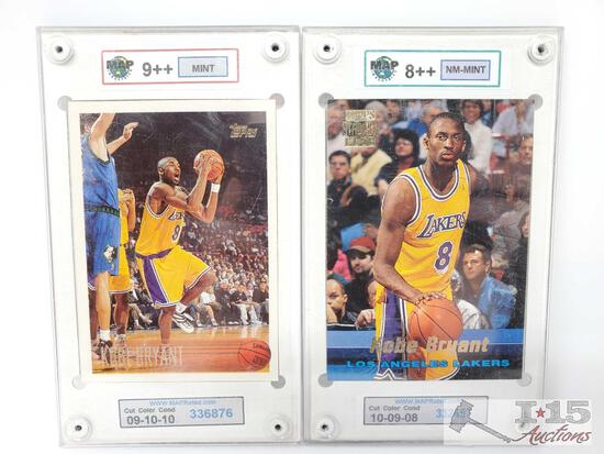 MAP 9++ Mint Kobe Bryant Card and MAP 8++ NM-Mint Kobe Bryant Card