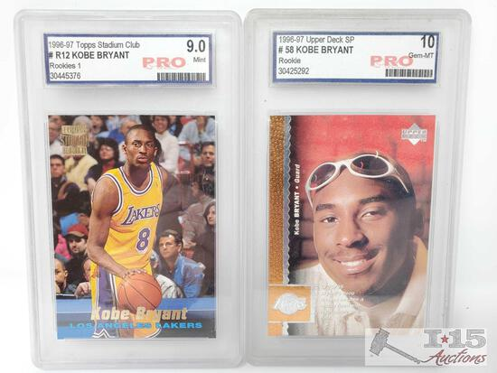 1996-97 Topps Stadium Club and Upper Deck SP Pro Graded Kobe Bryant Rookie Cards