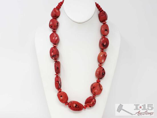 Coral Necklace, 7.9oz