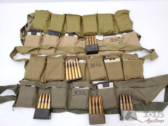 Approx 200 Rounds of .30-06 with Pouches