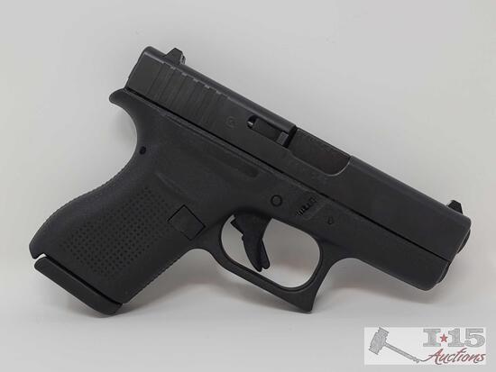 Glock 42 .380 Cal Semi-Auto Pistol With 2 6 Round Magazines