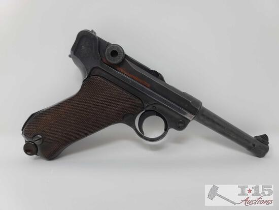 Mauser Luser 42-Code/Naz 9mm Semi-Auto Pistol With Magazine