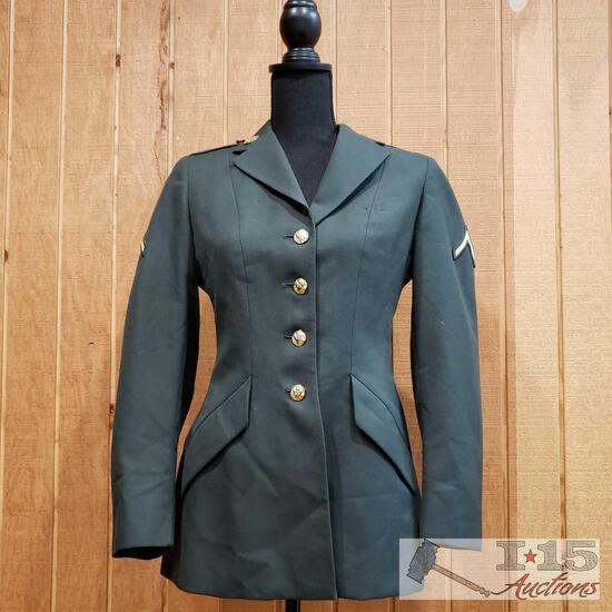 Women's US Army Coat with Private Second Class Patches
