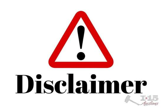 Disclaimer for Lots 902-925