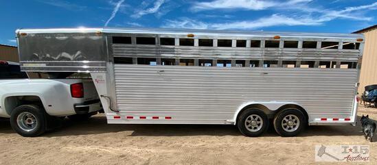 2000 8' x 20' 4-Star Gooseneck Custom Livestock Trailer