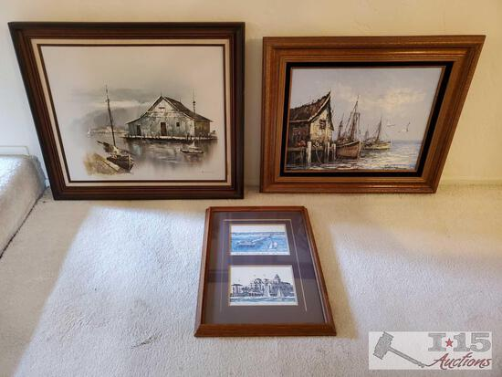 3 Signed Framed Pieces of Art