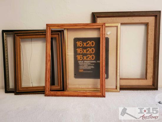 5 Empty Picture Frames