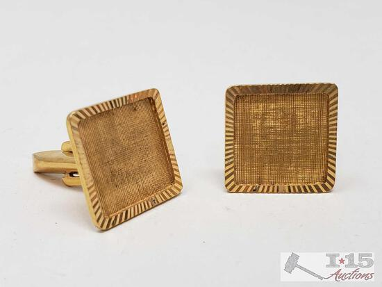 18k Gold Cuff Links,10.6g