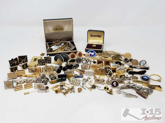 Cuff Links, Tie Clips, Tie Pins