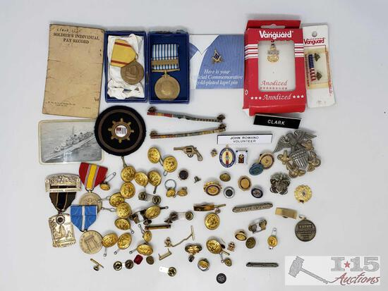 Antique Military Pins and Badges