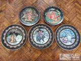 5 Decorative Plates with Stands