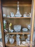 Glass Decanters, Pitchers, Ash tray, Decorative Bowls and More