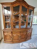Bernhardt Hibriten Hutch with Glass Shelves
