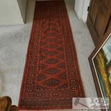 Authentic 100% Wool Runner Rug Hand Woven