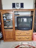 Entertainment Center, TV, VHS's, CD Player and more!