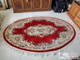 Hand Wooven Oval Rug