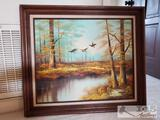Signed Framed Painting