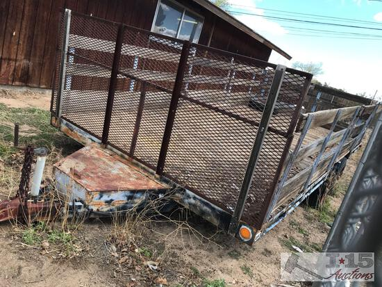 16? Dual Axle Trailer With Removable Gates