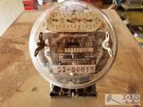 1920s Edison and Westing House Electric Meter