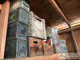 Ammo Cans And Woden Crates