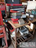 Roll Cart with Craftsman Box and Tools
