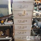 1 Filing Cabinet with various sockets, hardware, and more