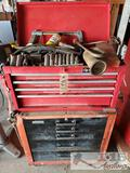 Montgomery Ward and Husky Tool Boxes Full of Tools