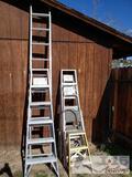 3 ladders, 4 step ladders