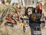 Craftsman Jack, Bottle jacks, jack stands, hitch, air hose reel