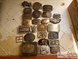 Aprrox. 25 various belt buckles