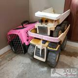 Tonka and Remco trucks and 1 kennel