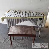 Jenco Vibraphone, stool, and more