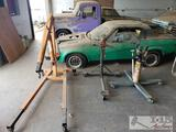 2 ton engine hoist and 2 engine stands