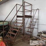 2 metal step ladders