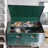 1 greenlee storage box and various electrical parts and more