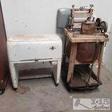 Vintage Kenmore Ironer and National vacuum washer