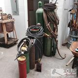 oxygen and acetylene tanks hoses and more