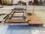 3 Metal Carts and 1 Push Cart