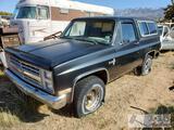 1982 Chevrolet K-5 Blazer 6.2L Diesel