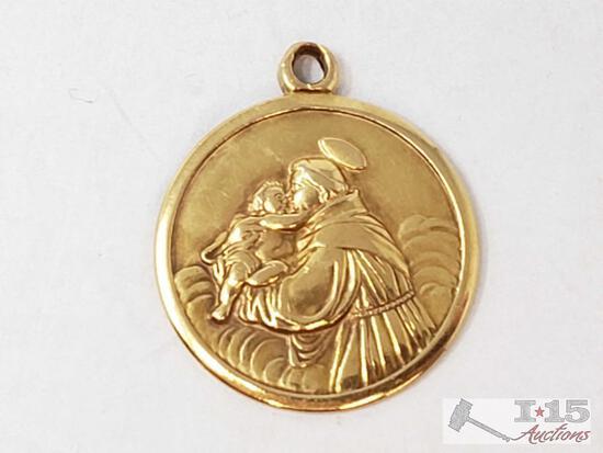 18k Gold Pendant, 3g