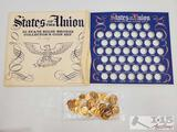 States Of The Union 50 States Soild Bronze Collector's Coin Set