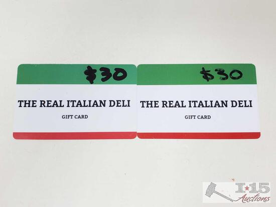 Two The Real Italian Deli Gift Cards
