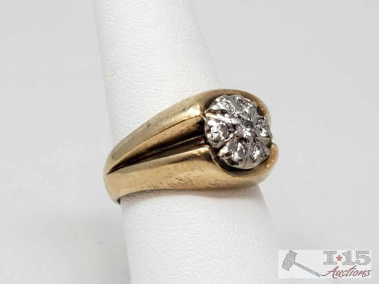 10k Gold Diamond Ring, 6.6g