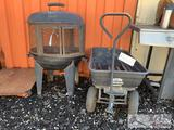Coleman Fire Pit and 1 Wagon