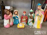 Plastic Nativity Scene