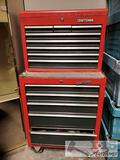 Craftsman Tool Boxes with Assorted Tools